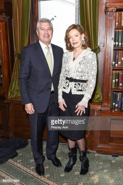 Carl Adams and Margo Langenberg attend Audrey Gruss' Hope for Depression Research Foundation Dinner with Author Daphne Merkin at The Metropolitan...