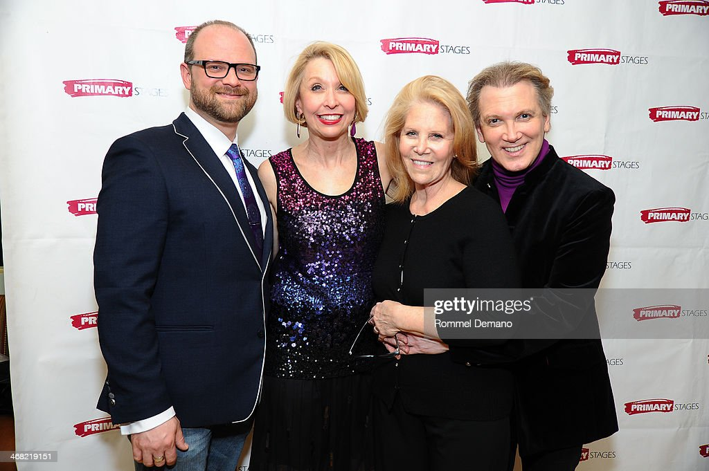 Carl Andress Julie Halston Daryl Roth and Charles Busch attend the opening night after party for 'The Tribune Artist' at Sarabeth's on February 9...