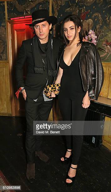 Carl Barat and Charli XCX attend The Box 5th year anniversary sponsored by Belvedere and WildFox>> at The Box Soho on February 17 2016 in London...