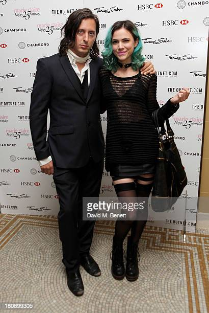 Carl Barat and Edie Langley arrive at the Marie Claire 25th birthday celebration featuring Icons of Our Time in association with The Outnet at the...