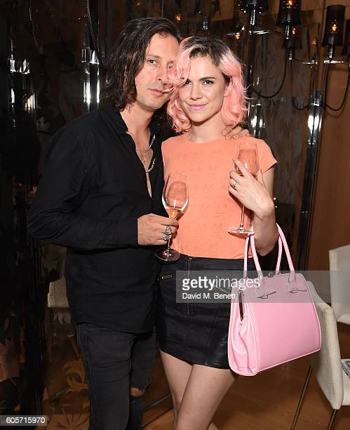 Carl Barat and Edie Langley attend a VIP dinner hosted by chef Gizzi Erskine to celebrate her brand new book 'Gizzi's Season's Eatings' at Holborn...