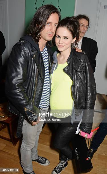 Carl Barat and Edie Langley attend The Hepatitis C Trust's Bingo Night at The Groucho Club on April 28 2014 in London England