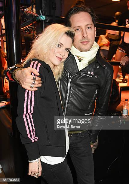 Carl Barat and Edie Langley attend the launch of the BXR London Gym on January 25 2017 in London England