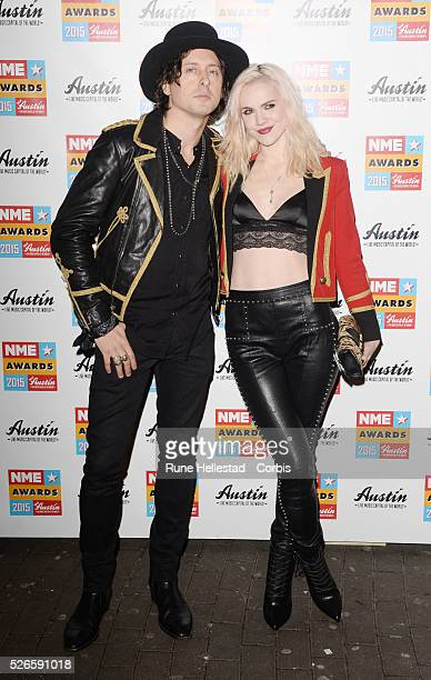 Carl Barat and Edie Langley attend the NME Awards at Brixton Academy