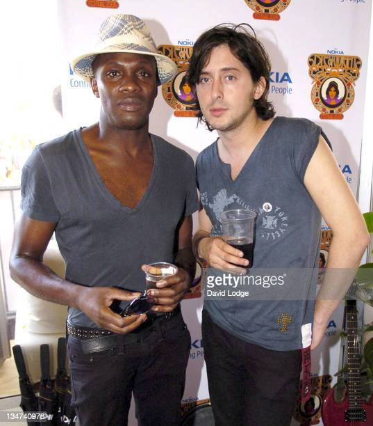 Carl Barat and Gary Powell of Dirty Pretty Things during 2006 Nokia 'Isle of Wight Festival' Day 2 at Seaclose Park in Newport Great Britain