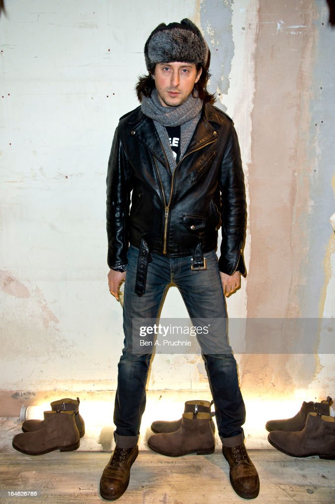 Carl Barat attends AllSaints Biker Project - Series One at All Saints on March 25, 2013 in London, England.