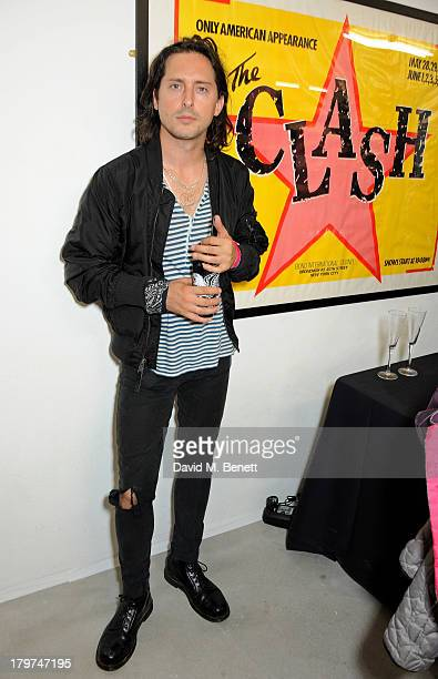 Carl Barat attends the launch of 'Black Market Clash' an exhibition of personal memorabilia and items curated by original members of The Clash at 75...