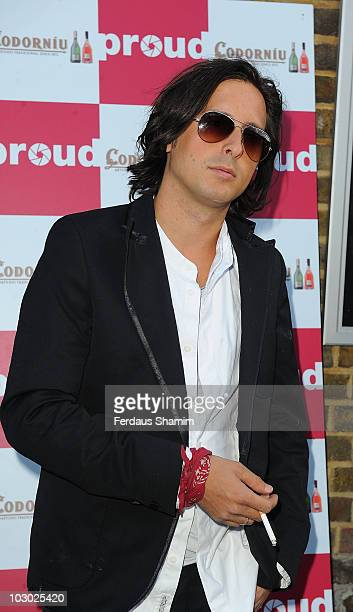 Carl Barat attends The Six Shooters exhibition at Proud Camden on July 21 2010 in London England