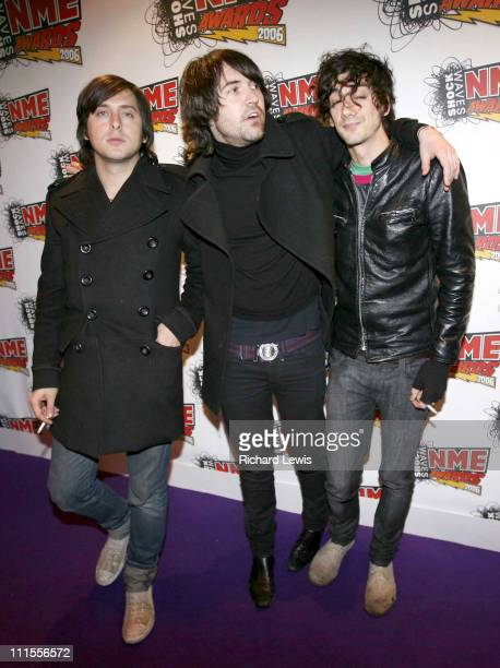 Carl Barat Didz Hammond and Anthony Rossomando of Dirty Pretty Things at the Shockwaves NME Awards 2006