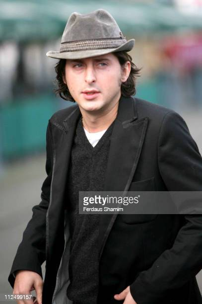 Carl Barat during Crisis Celebrity Busk at Design Museum in London Great Britain