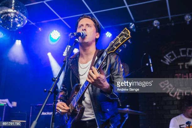Carl Barat of Carl Barat The Jackals performs at Brudenell Social Club on June 1 2017 in Leeds England