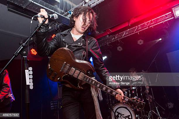 Carl Barat of Carl Barat The Jackals performs on stage at Sound Control on November 19 2014 in Manchester United Kingdom