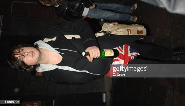 Carl Barat of Dirty Pretty Things during Courtney Love Sighting at Dirty Pretty Things in Concert at Kings College in London March 8 2006 at Kings...