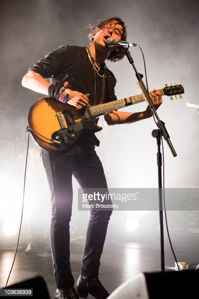Carl Barat of The Libertines performs on stage at The Forum on August 25 2010 in London England