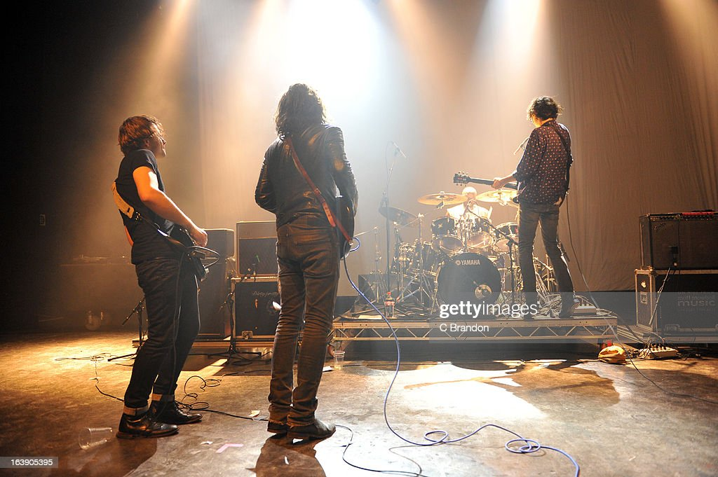 Carl Barat performs on stage at O2 Shepherd's Bush Empire on March 17, 2013 in London, England.