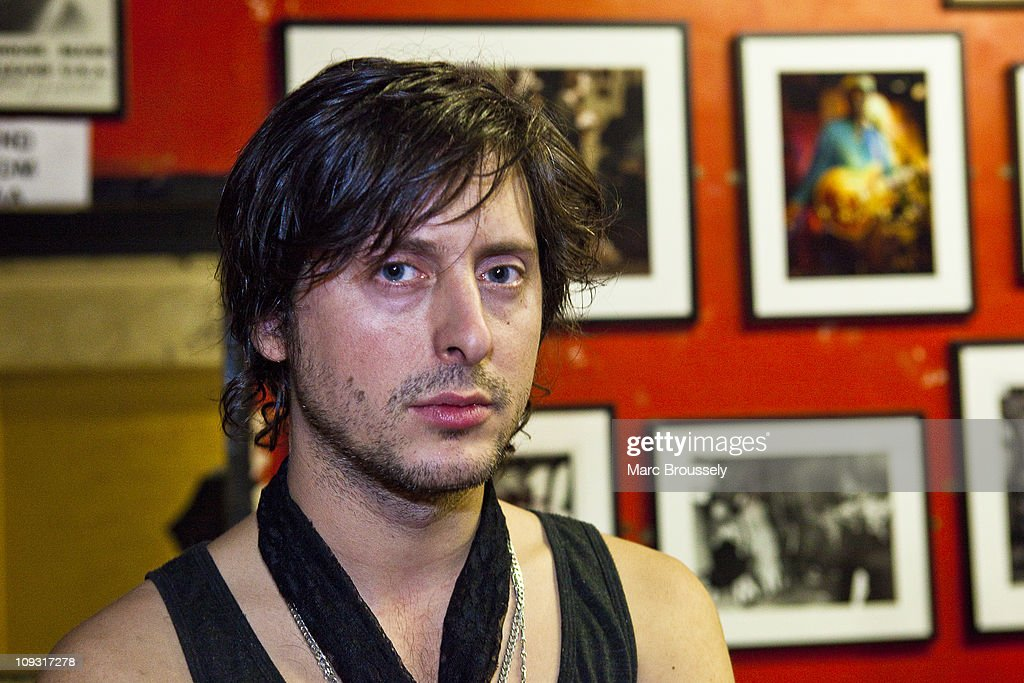 <a gi-track='captionPersonalityLinkClicked' href=/galleries/search?phrase=Carl+Barat&family=editorial&specificpeople=573150 ng-click='$event.stopPropagation()'>Carl Barat</a> poses for portraits after his performance for the Shockwaves NME Awards Show at The 100 Club on February 20, 2011 in London, England.