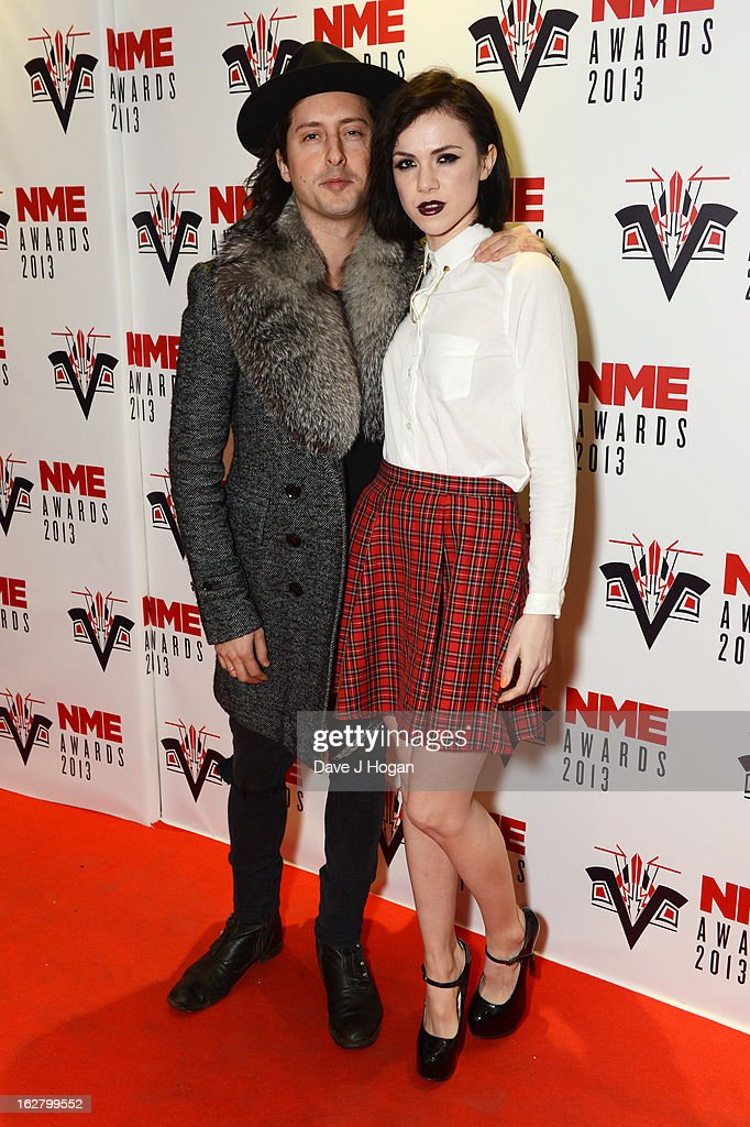 Carl Barât and Edie Langley attend the NME Awards 2013 at The Troxy on February 27, 2013 in London, England.