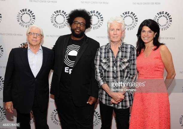 Carl Bernstein Ahmir 'Questlove' Thompson Graham Nash and Maureen J Reidy attend The Paley Center For Media Presents 'The Sixties' Series Finale on...