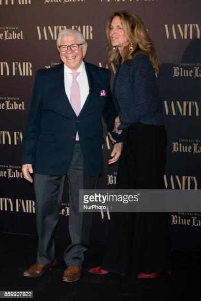 Carl Berstein and Christine Kuehbeck attend the Vanity Fair international journalism award at Santo Mauro Hotel in Madrid on 10 Oct 2017