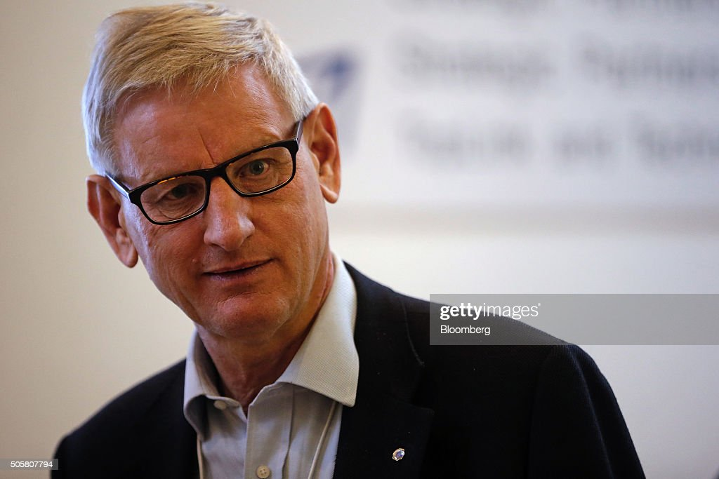 <a gi-track='captionPersonalityLinkClicked' href=/galleries/search?phrase=Carl+Bildt&family=editorial&specificpeople=3972090 ng-click='$event.stopPropagation()'>Carl Bildt</a>, Sweden's former prime minister, looks on between sessions during the World Economic Forum (WEF) in Davos, Switzerland, on Wednesday, Jan. 20, 2016. World leaders, influential executives, bankers and policy makers attend the 46th annual meeting of the World Economic Forum in Davos from Jan. 20 - 23. Photographer: Matthew Lloyd/Bloomberg via Getty Images