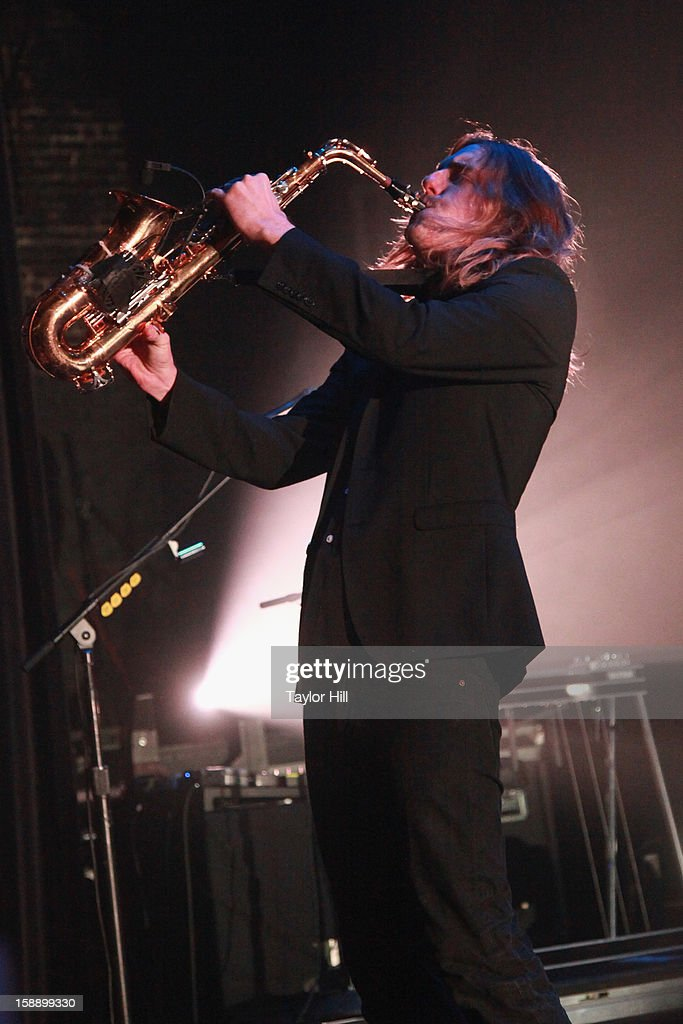 Carl Broemel of My Morning Jacket performs during On the Beach: A Sandy Relief Concert at Paramount Theater on January 2, 2013 in Asbury Park, New Jersey.