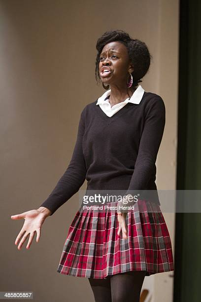 Catherine McAuley student Lulu Hawkes performs her poetry slam routine in the school's auditorium on Thursday March 31 2011 Hawkes recently won the...