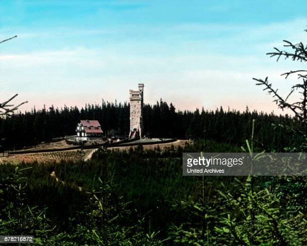 Carl Eduard lookout opened August 27th at the peak of Hohe Warte in Thuringia 1920s