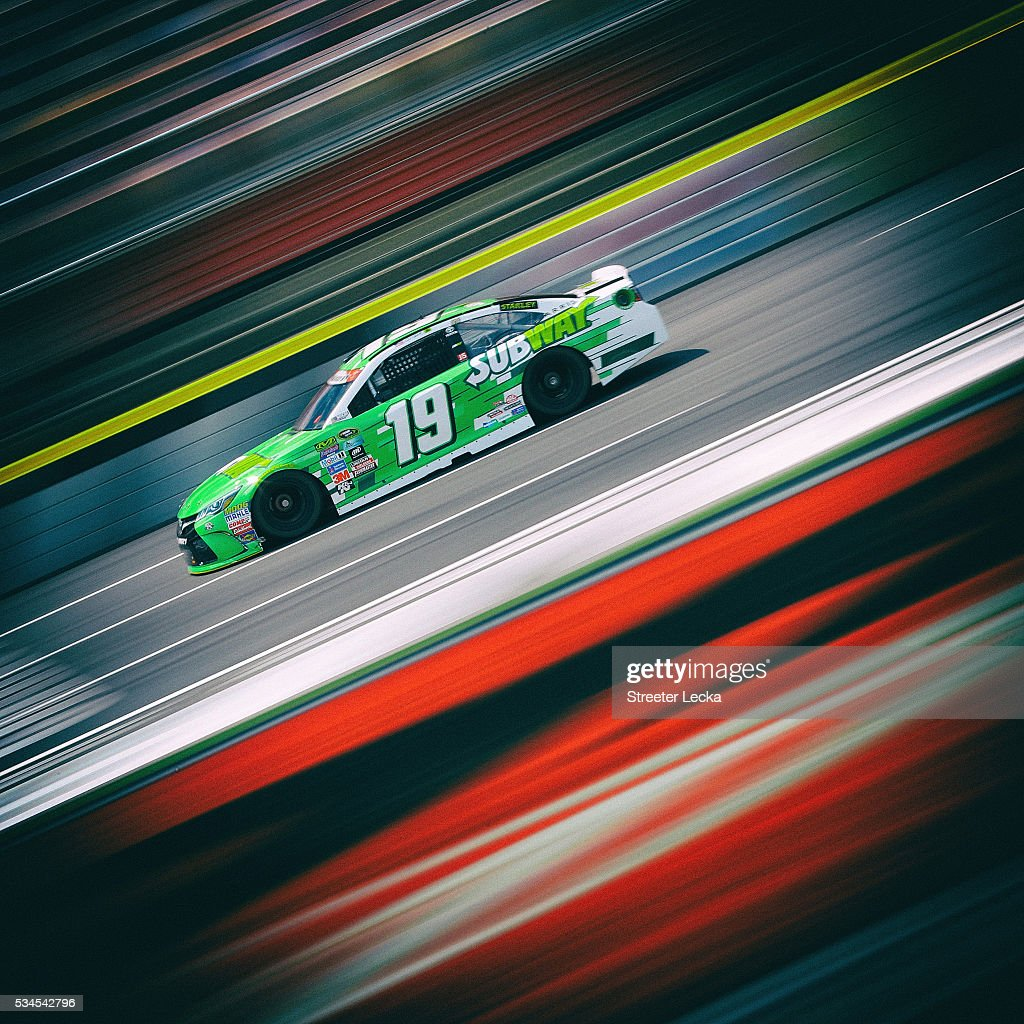 <a gi-track='captionPersonalityLinkClicked' href=/galleries/search?phrase=Carl+Edwards&family=editorial&specificpeople=193803 ng-click='$event.stopPropagation()'>Carl Edwards</a>, driver of the #19 Subway Toyota, practices for the NASCAR Sprint Cup Series Coca-Cola 600 at Charlotte Motor Speedway on May 27, 2016 in Charlotte, North Carolina.
