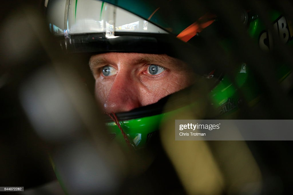 <a gi-track='captionPersonalityLinkClicked' href=/galleries/search?phrase=Carl+Edwards+-+Racecar+Driver&family=editorial&specificpeople=193803 ng-click='$event.stopPropagation()'>Carl Edwards</a>, driver of the #19 Subway Toyota, sits in his car during practice for the NASCAR Sprint Cup Series Coke Zero 400 at Daytona International Speedway on July 1, 2016 in Daytona Beach, Florida.