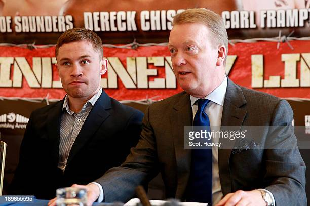 Carl Frampton and Frank Warren during a press conference on May 30 2013 in London England