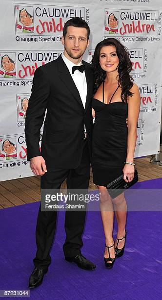Carl Froch and Rachel Cordingley attend The Caudwell Children Butterfly Ball at Battersea Evolution on May 14 2009 in London England