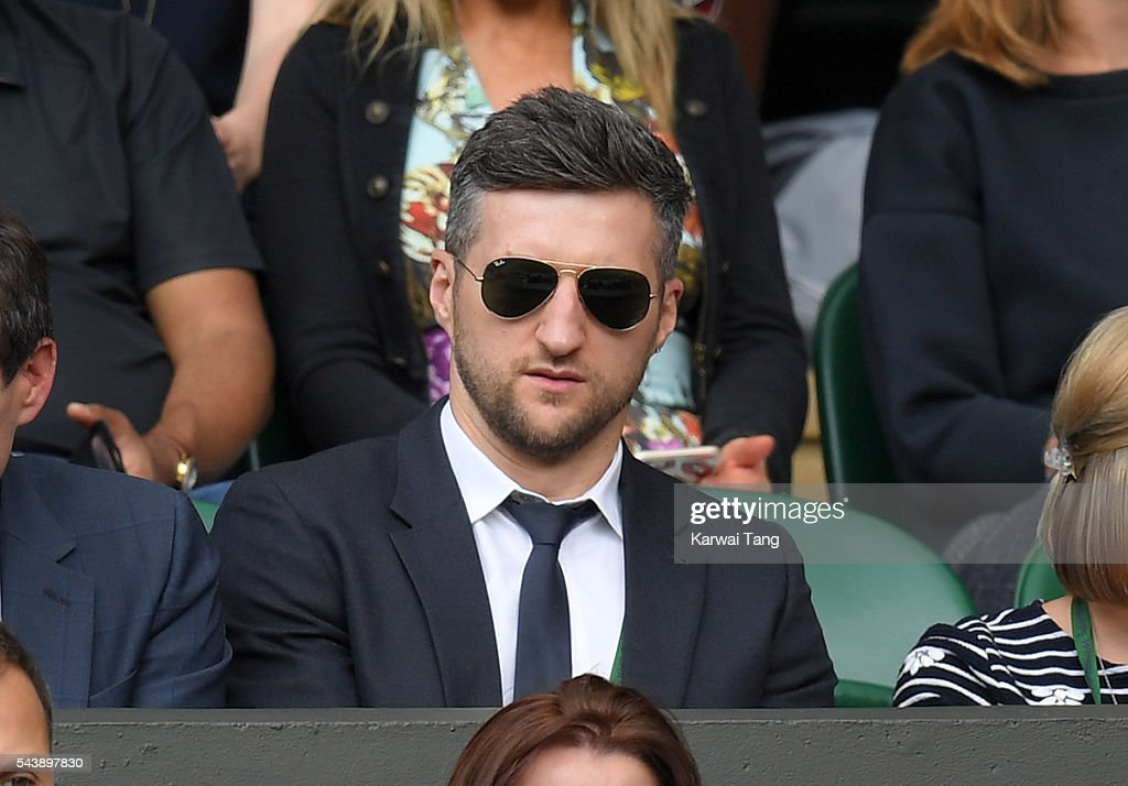 <a gi-track='captionPersonalityLinkClicked' href=/galleries/search?phrase=Carl+Froch&family=editorial&specificpeople=241345 ng-click='$event.stopPropagation()'>Carl Froch</a> attends day four of the Wimbledon Tennis Championships at Wimbledon on June 30, 2016 in London, England.