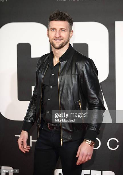 Carl Froch attends the European Premiere of 'Creed' on January 12 2016 in London England