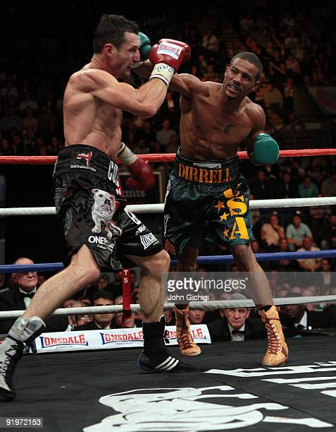 Carl Froch is caught by a right cross in his title against Andre Dirrell during their WBC Super Middleweight fight on October 17 2009 at Trent FM...