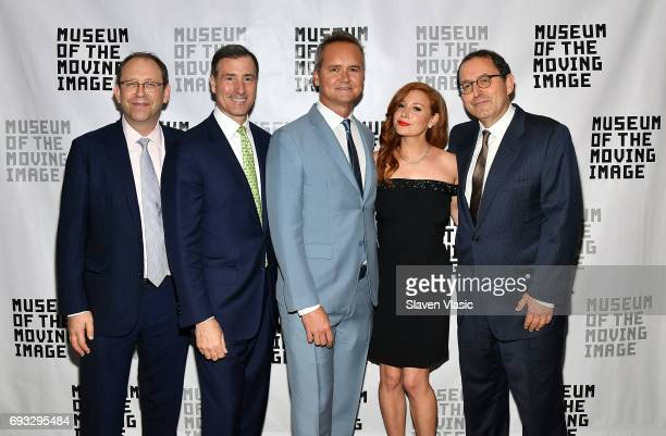 Carl Goodman Ivan L Lustig Rob Price Lila Feinberg and Michael Barker attend Museum of the Moving Image Award for Achievement in Media and...