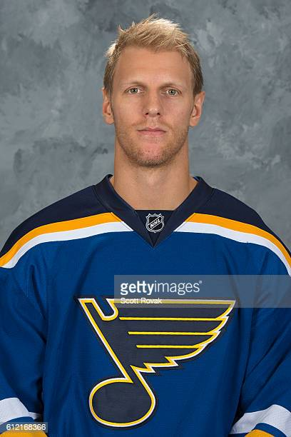 Carl Gunnarsson of the St Louis Blues poses for his official headshot for the 20162017 season on September 22 2016 in St Louis Missouri