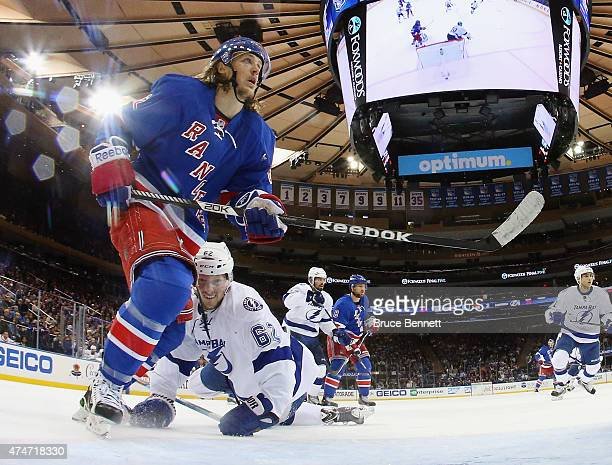 Carl Hagelin of the New York Rangers skates against the Tampa Bay Lightning in Game Five of the Eastern Conference Finals during the 2015 NHL Stanley...
