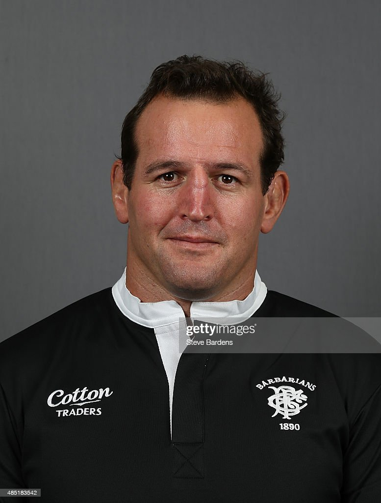 Carl Hayman of the Barbarians poses for a portrait during the Barbarians photocall at the Westbury Hotel on August 25, 2015 in London, England.