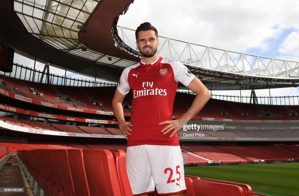 Carl Jenkinson of Arsenal during the Arsenal 1st team photocall at Emirates Stadium on August 3, 2017 in London, England.