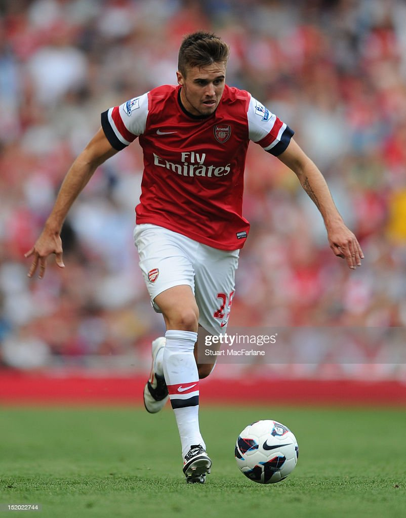 Carl Jenkinson of Arsenal during the Barclays Premier League match between Arsenal and Southampton at Emirates Stadium on September 15, 2012 in London, England.