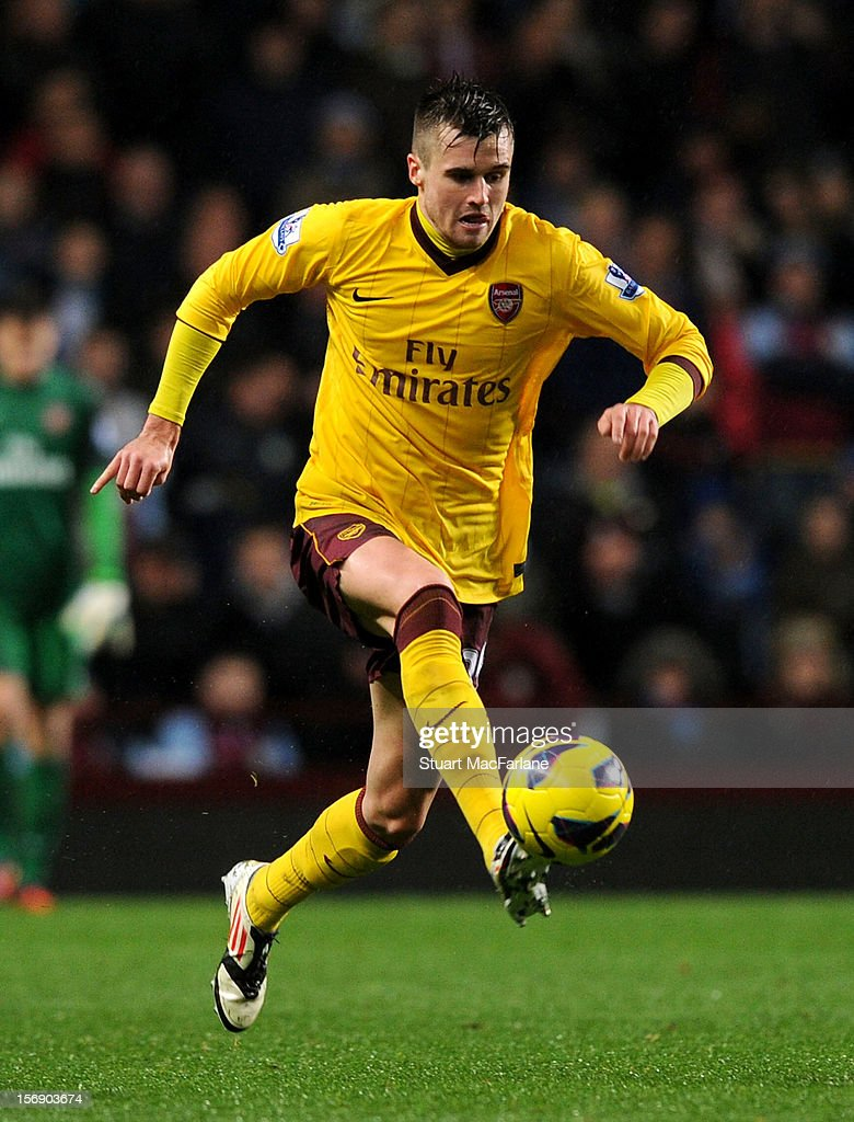 <a gi-track='captionPersonalityLinkClicked' href=/galleries/search?phrase=Carl+Jenkinson&family=editorial&specificpeople=7935131 ng-click='$event.stopPropagation()'>Carl Jenkinson</a> of Arsenal during the Barclays Premier League match between Aston Villa and Arsenal at Villa Park on November 24, 2012 in Birmingham, England.