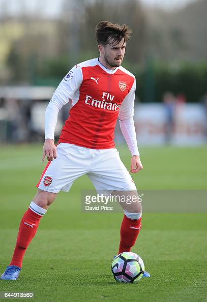 Carl Jenkinson of Arsenal during the match between Arsenal U23 and Chelsea U23 at London Colney on February 24 2017 in St Albans England