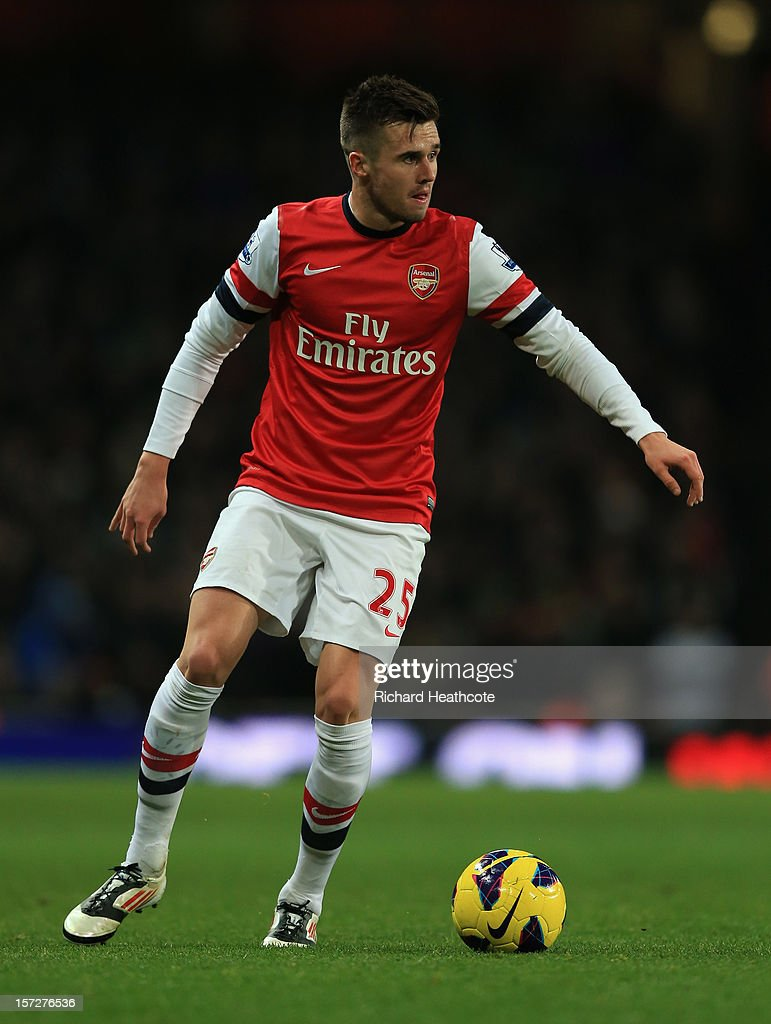 Carl Jenkinson of Arsenal in action during the Barclays Premier League match between Arsenal and Swansea City at the Emirates Stadium on December 1, 2012 in London, England.
