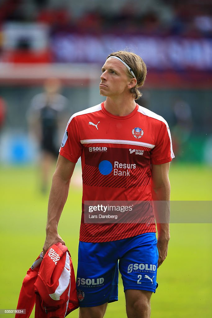 Carl Johansson of Helsingborgs IF during the Allsvenskan match between Helsingborgs IF and IFK Goteborg at Olympia on May 29, 2016 in Helsingborg, Sweden.