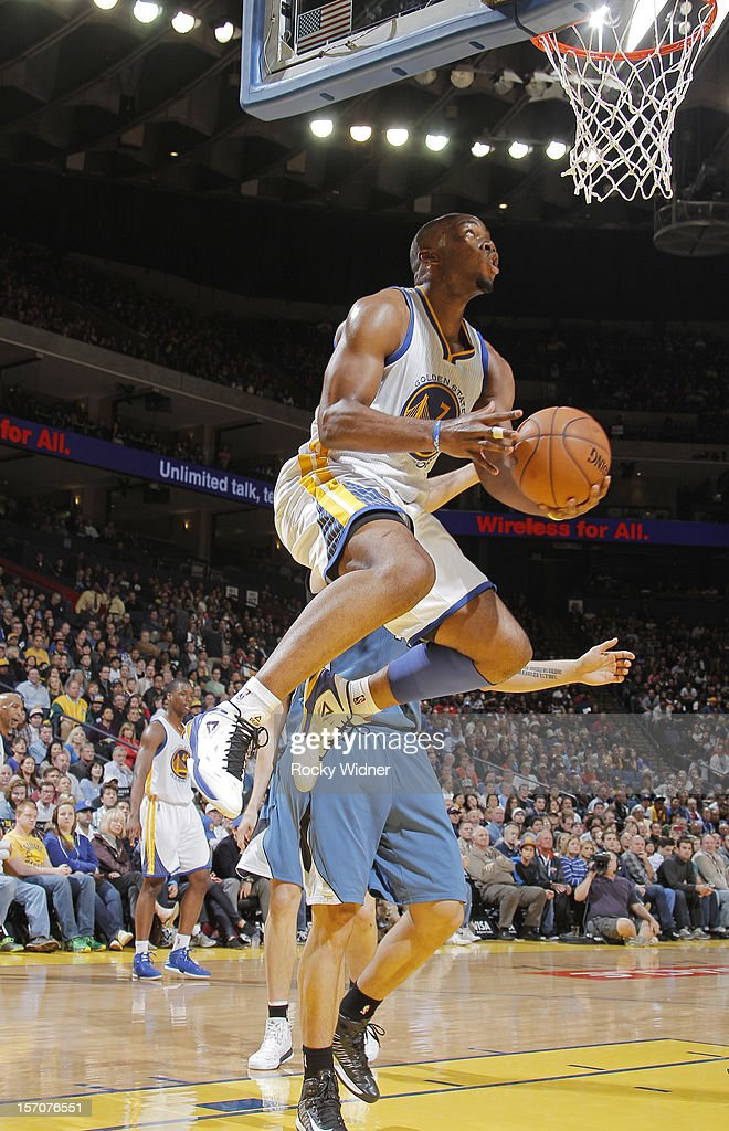 <a gi-track='captionPersonalityLinkClicked' href=/galleries/search?phrase=Carl+Landry&family=editorial&specificpeople=4111952 ng-click='$event.stopPropagation()'>Carl Landry</a> #7 of the Golden State Warriors goes up for the shot against the Minnesota Timberwolves on November 24, 2012 at Oracle Arena in Oakland, California.