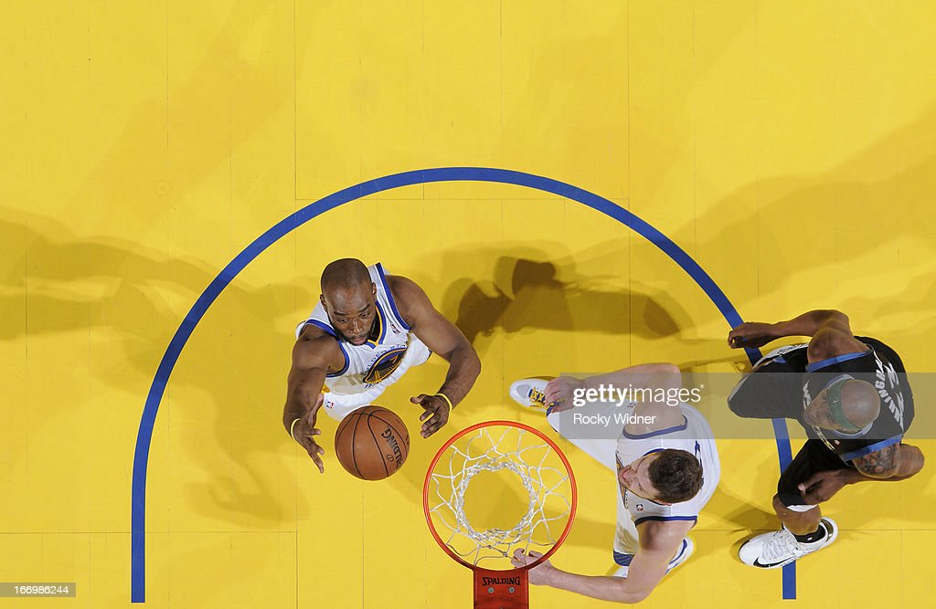 <a gi-track='captionPersonalityLinkClicked' href=/galleries/search?phrase=Carl+Landry&family=editorial&specificpeople=4111952 ng-click='$event.stopPropagation()'>Carl Landry</a> #7 of the Golden State Warriors rebounds against the Minnesota Timberwolves on April 9, 2013 at Oracle Arena in Oakland, California.