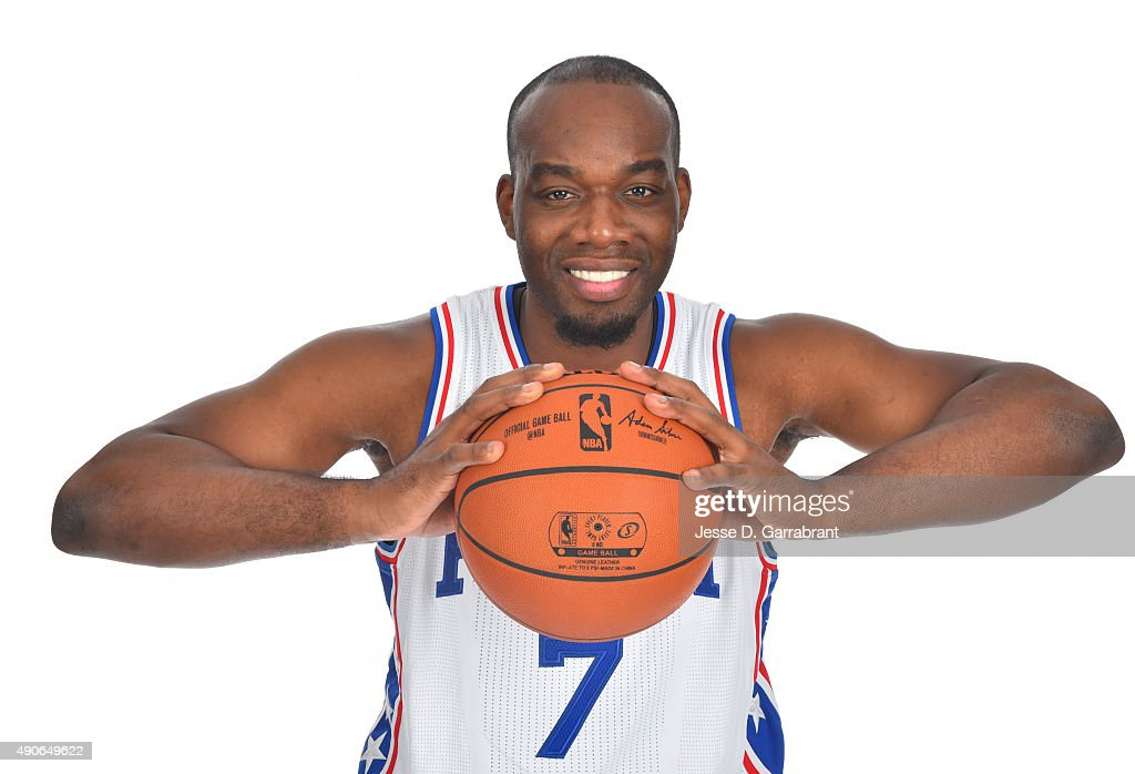 Carl Landry of the Philadelphia 76ers poses for a photo during media day on September 28 2015 in Galloway New Jersey NOTE TO USER User expressly...