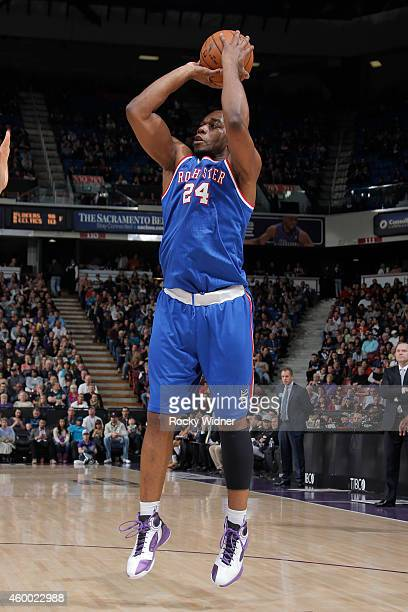 Carl Landry of the Sacramento Kings shoots against the Indiana Pacers on December 5 2014 at Sleep Train Arena in Sacramento California NOTE TO USER...