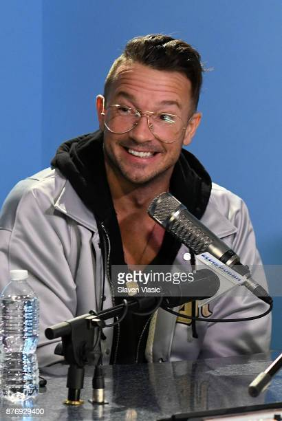 Carl Lentz the senior pastor of Hillsong Church in New York City visits iHeart Now at Z100 Studio to talk with Elvis Duran on November 20 2017 in New...