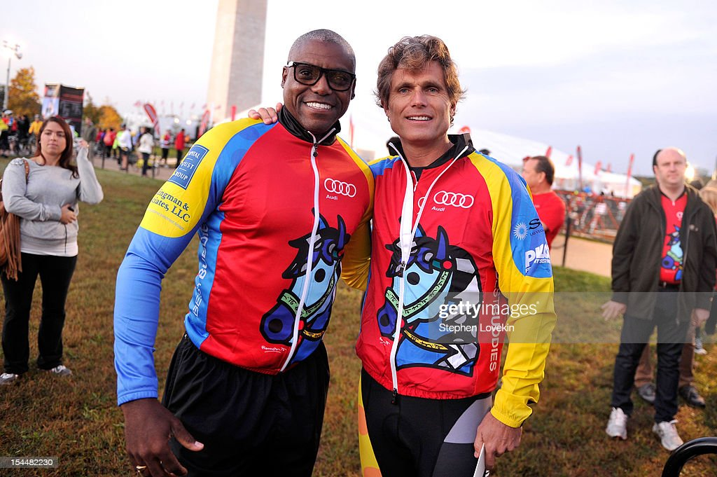 <a gi-track='captionPersonalityLinkClicked' href=/galleries/search?phrase=Carl+Lewis&family=editorial&specificpeople=206414 ng-click='$event.stopPropagation()'>Carl Lewis</a> and Anthony Kennedy Shriver attend 2012 Audi Best Buddies Challenge: Washington, D.C. on October 20, 2012 in Washington, DC.